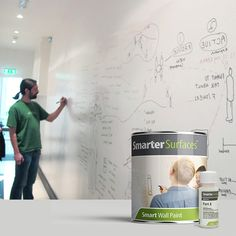 Choose Smart Wall Paint, our whiteboard paint and transform your surfaces into large writable areas. Dry Erase Paint, Dry Erase Wall, Dry Erase Board, Magnetic Paint, Magnetic White Board, White Board Paint, Large Whiteboard, Kids Church Decor, Kids Office