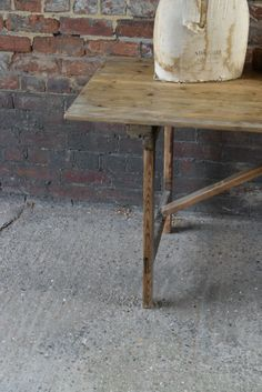Original Oak Industrial/Church Trestle Table  http://www.theblindmole.com/shop/original-oak-industrialchurch-trestle-table