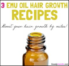 DIY Emu Oil Hair Growth Recipes for Luscious Hair - beautymunsta - free natural beauty hacks and more!