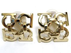 Vintage Salvatore Ferragamo gold tone gancini earrings. Great vintage gift on Etsy, $174.47 AUD
