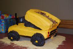 Tonka truck birthday cake Truck Birthday Cakes, Cupcake Cakes, Cupcakes, Birthdays, Desserts, Recipes, Food, Tailgate Desserts, Cupcake