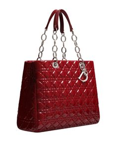 Cherry-red patent-leather 'Dior Soft' bag
