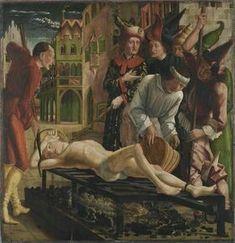 Laurentiys-Altar. 1462-1463. Il martirio di San Lorenzo.  Alte Pinakothek München