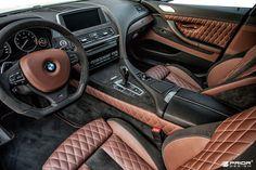 Custom BMW 650i interior.