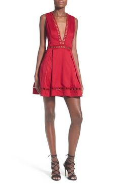 Missguided Ladder Stitch Skater Dress available at #Nordstrom