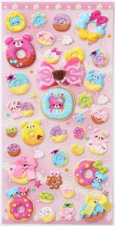 kawaii donut bears sponge stickers from Japan 2