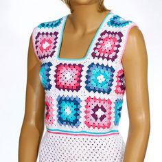 Sweater dress Festival Leggings dress Sleeveless Beach Tunic Cotton Summer crochet caftan festive Be Crochet Bodycon Dresses, Black Crochet Dress, Crochet Jacket, Crochet Blouse, Easy Crochet, Crochet Top, Cotton Crochet, Crochet Summer, Crochet Baby