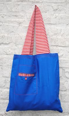 How To Make A Reusable Shopping Bag. Pattern & Tutorial