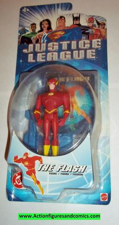 justice league unlimited FLASH 2003 moc mip mib dc universe jlu dcu mattel new