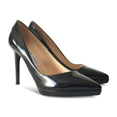 """Condition: Brand new with box and dust bag.  The original retail price is $750+TAX  Size: 37.5  Measurements: Insole: 9 3/4"""" Width: 2 3/4"""" Heel Height: 4"""" Material: Patent Leather Origin: Italy"""