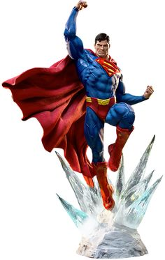 Superman Statue by iron studios awesome really expensive stuff click to view or purchase from sideshow go on you know u want to, just buy the mrs a bag or something