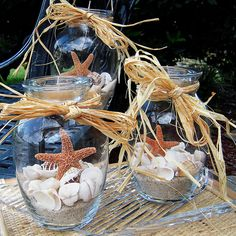Beach theme Centerpieces