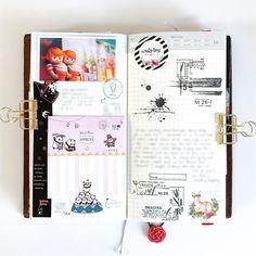 Inside my Midori Traveler's notebook.