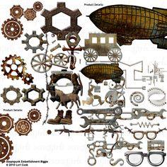 Steampunk Digital Embellishments