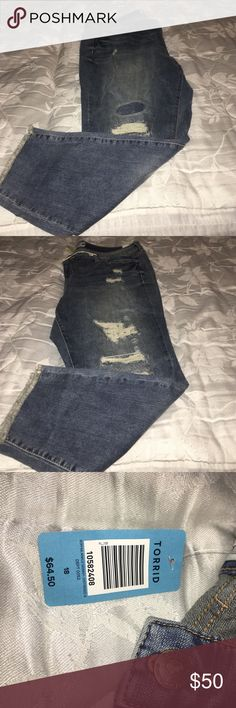 Torrid Ankle Skinny Jeans 18 NWT! Very cute and comfy jeans! Just never used! torrid Jeans Skinny