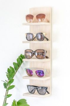 Diy Home : Illustration Description Is your sunglasses collection a mess? Make a DIY sunglasses organizer to display them in style. #DIY #sunglasses #sunglass #display #organize #organizer -Read More – - #DIYHome
