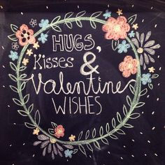 Valentines Chalkboard art