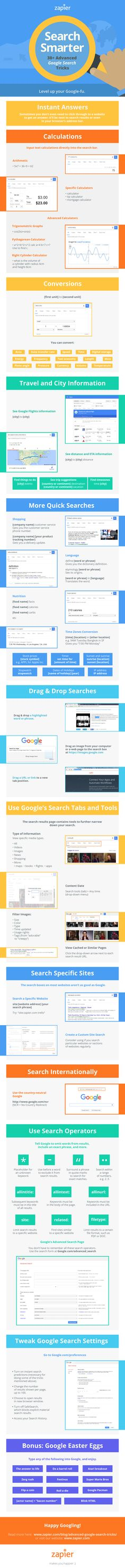 Google's search engine is an always-expanding, extremely useful tool that's packed with tons of different tools. Over on Zapier, they outline tons of different advanced tricks for searching Google as quickly as possible.