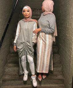 ▪PINTEREST: Aya MB• Abaya Fashion, Muslim Fashion, Modest Fashion, Fashion Dresses, Fashion Fashion, Fashion Ideas, Vintage Fashion, Street Hijab, Mode Hijab