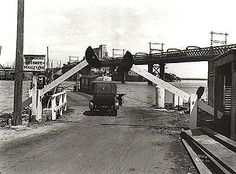 Barrier gate on northern approach to Ryde punt, 16 October 1928 - Ryde, NSW…