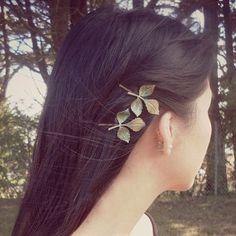 leaf clips  $2.76  lolita mori kei hipster dark mori kei nature fachin leaf plants hair clip hair accessories under10 under20 under30 free shipping rosegal