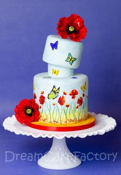 topsy turvy butterfly cake