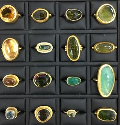 "109 Likes, 6 Comments - Nava Zahavi Jewelry (@navazahavi) on Instagram: ""Looking for the Perfect Gold Ring? Many Greens, many Blues... Tourmalines and more.... ❤️"""