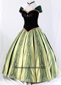 Halloween option, Snow Princess Anna Coronation Costume by NeverbugCreations on Etsy Disney Princess Dresses, Princess Anna, Disney Dresses, Princess Costumes, Robes Disney, Disney Costumes, Cosplay Costumes, Anna Costume, Frozen Costume
