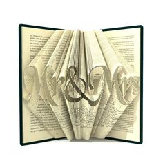 Book folding pattern - MR&MRS -  381 folds + Tutorial with Simple pattern - Heart - WO0301