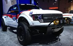 Thirty-five-inch BFGoodrich All-Terrain tires modified specifically for the Raptor provide a connection to the ground, while an Off Road mode calibrates the transmission, stability control and traction control to operate effectively in high-speed off-road situations..
