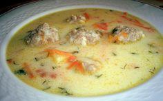 Retete Culinare - Ciorba de perisoare Romania Food, Soup Recipes, Healthy Recipes, Healthy Food, Cheeseburger Chowder, Goodies, Food And Drink, Low Carb, Soups