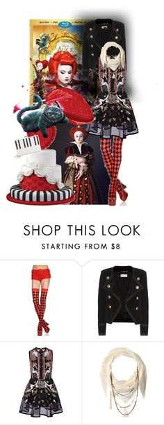 """""""Alice3"""" by anamari2 ❤ liked on Polyvore featuring Disney, Yves Saint Laurent, Elie Saab, BCBGeneration, Kate Spade, contestentry and DisneyAlice"""