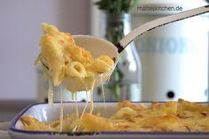 Leckerer #Nudelauflauf mit #Lauch und viel Käse, nach Tim Mälzer Rezept. Schön goldgelb gratiniert, schmeckt toll :)
