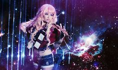 For those who are about to rock, we salute you! Namely, deviantART.com's thebakasaru as Sheryl Nome (Macross Frontier).