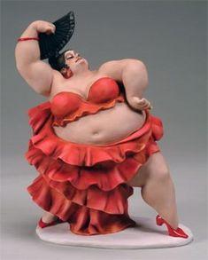 Credits : Emilio Casarotto Fat curvy chubby lady figurine Plus size Art Clay Dolls, Art Dolls, Big And Beautiful, Beautiful Dolls, Art Beauté, Plus Size Art, Fat Art, Fat Women, Female Art