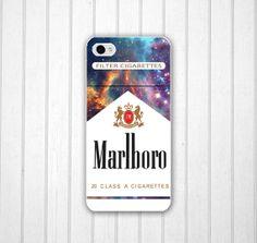 Unique Galaxy Marlboro Phone 5 case, Cigarettes iPhone 4s case, iPhone 4 cover, iPod Touch 5 cover