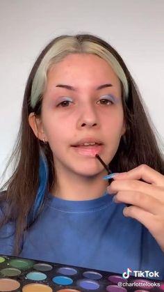 Edgy Makeup, Makeup Eye Looks, Crazy Makeup, Cute Makeup, Pretty Makeup, Face Paint Makeup, Eye Makeup Art, Skin Makeup, Maquillage Cosplay Anime