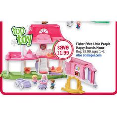 Zoe-Fisher-Price Little People Happy Sounds Home at Meijer Black Friday