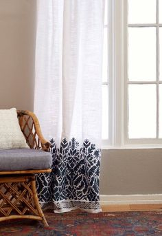 Tight budgets mean creative design choices. Much as we love the price of basic store-bought curtains, it's also nice to find ways to make them look fresher and more personal — and not looking the same in every other person's home. Here are ways to elevate these basic materials to something special, without spending a fortune.