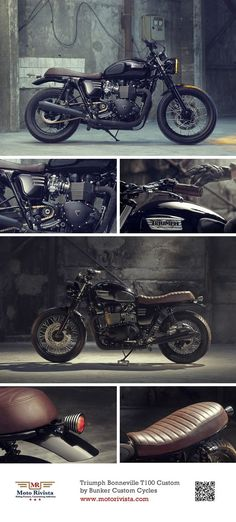 #Triumph Bonneville T100 #Custom ~ featured on Moto Rivista:
