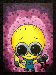 Sugar Fueled Minion Despicable Me Banana lowbrow pop surrealism creepy cute big…