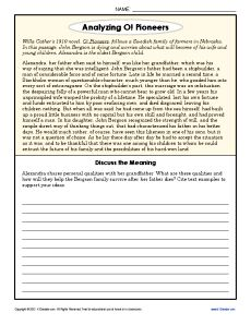 Sixth Grade Reading Comprehension Worksheet - Meerfus the Magician ...