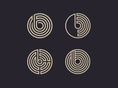 Four unused letter B logo mark concepts from a current project.