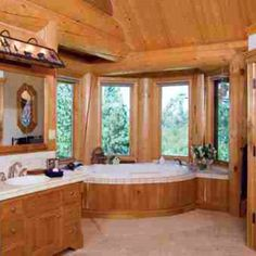 Amazing Charming Log Cabin Bathroom With Vanity Made From A Log | Make Mine Rustic  | Pinterest | Http://www.jennisonbeautysupply.com/, Awesome And 65