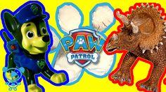 Paw Patrol und Dinosaurier spielen mit Super Sand Paw Patrol Spielzeuge ...
