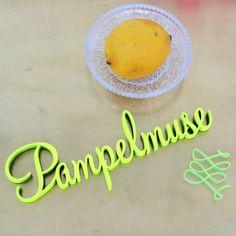 """""""Pampelmuse""""+Deko+Holzschriftzug+von+NOGALLERY+auf+DaWanda.com"""