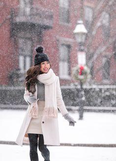 jcrew lady day winter wool coat petite white