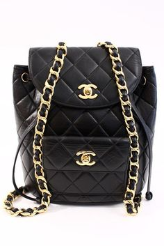 8e781117f81e Vintage Chanel Iconic Backpack at Rice and Beans Vintage Chanel Backpack