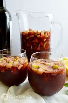 The Red Tea Detox is a new rapid weight loss system that can help you lose several pounds of pure body fat in just 14 days! Puerto Rican Sangria Recipe, Sangria Recipes, Cocktail Recipes, Cooking Recipes, Healthy Recipes, Le Diner, Wine Drinks, Mexican Food Recipes, Love Food