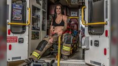 Women have been included in the annual Turn Up the Heat calendar from the Edmonton Firefighters Burn Treatment Society for the first time ever. Women Firefighters, University Of Alberta, Female Firefighter, Firefighting, Thing 1 Thing 2, Cool Watches, Female Models, First Time
